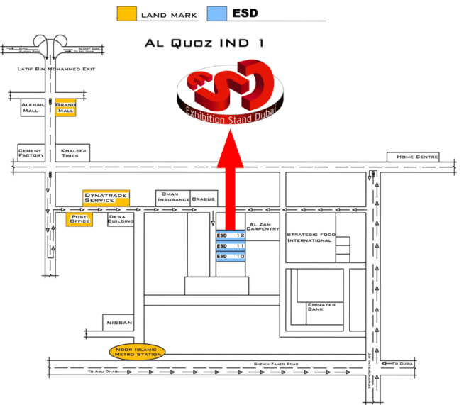 ESD-location-map - Exhibition Stand Dubai ¦ 800-STAND