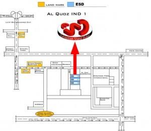exhibition stand dubai ESD location map